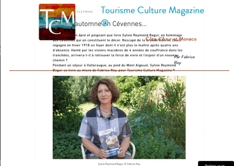Interview pour Tourisme Culture Magazine.